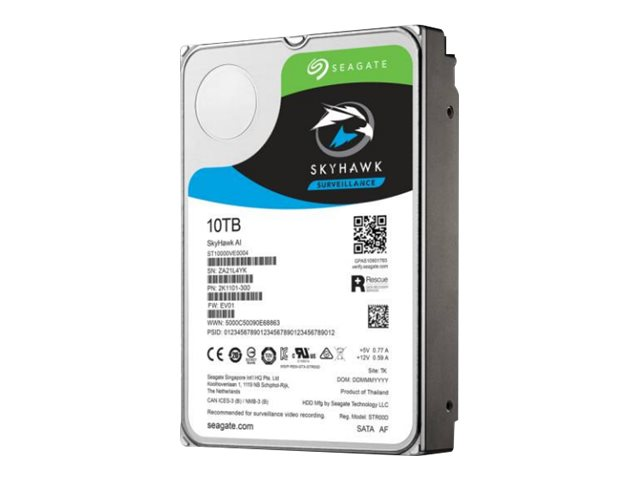 Seagate SkyHawk AI ST10000VE0008 - Festplatte - 10 TB - intern - 3.5