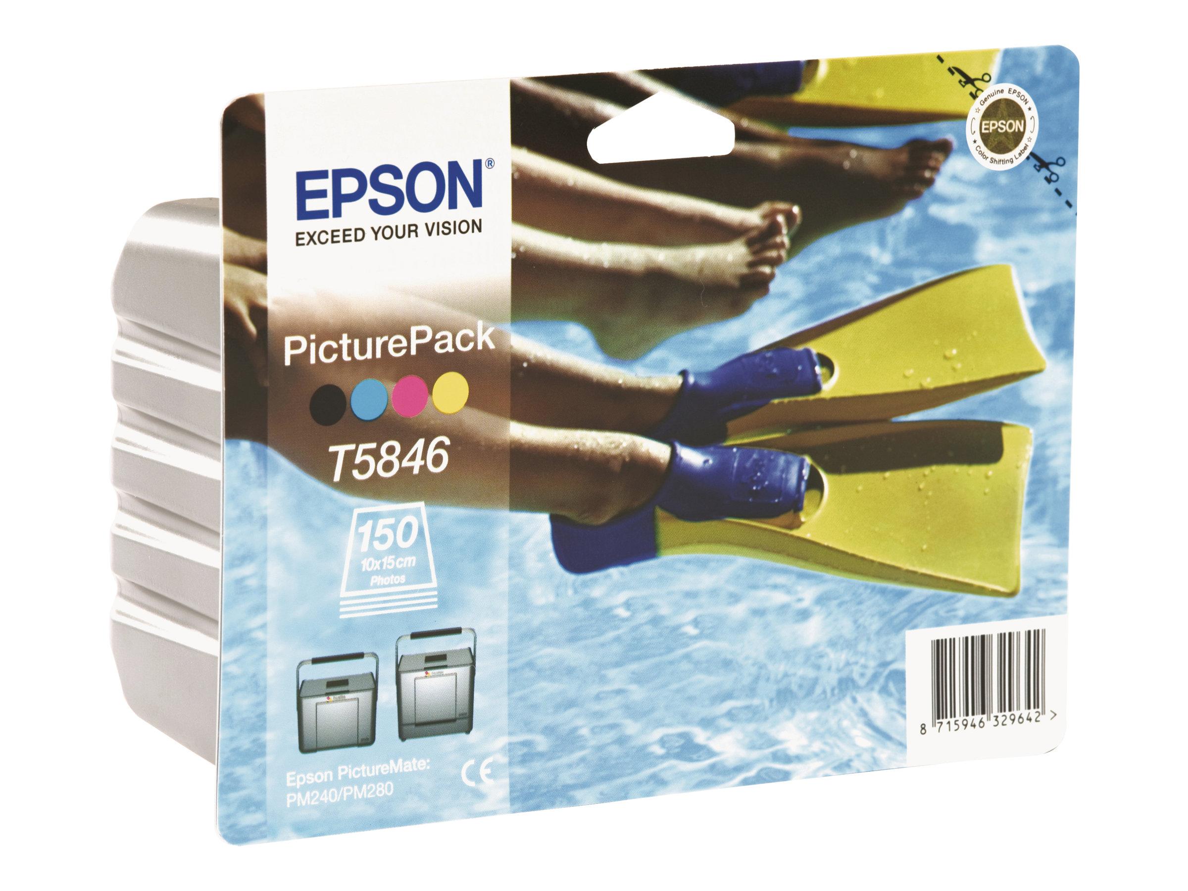 Epson PicturePack T5846 - 1 - Farbe (Cyan, Magenta, Gelb, Schwarz) - Blisterverpackung - Druckpatrone / Papiersatz - für Picture
