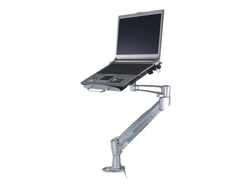 NewStar NOTEBOOK-D200 - Tischhalterung für Notebook (einstellbarer Arm) - Silber - Bildschirmgrösse: 25.4-43 cm (10