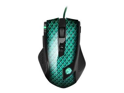 Sharkoon Drakonia - Maus - Laser - 11 Tasten - kabelgebunden - USB