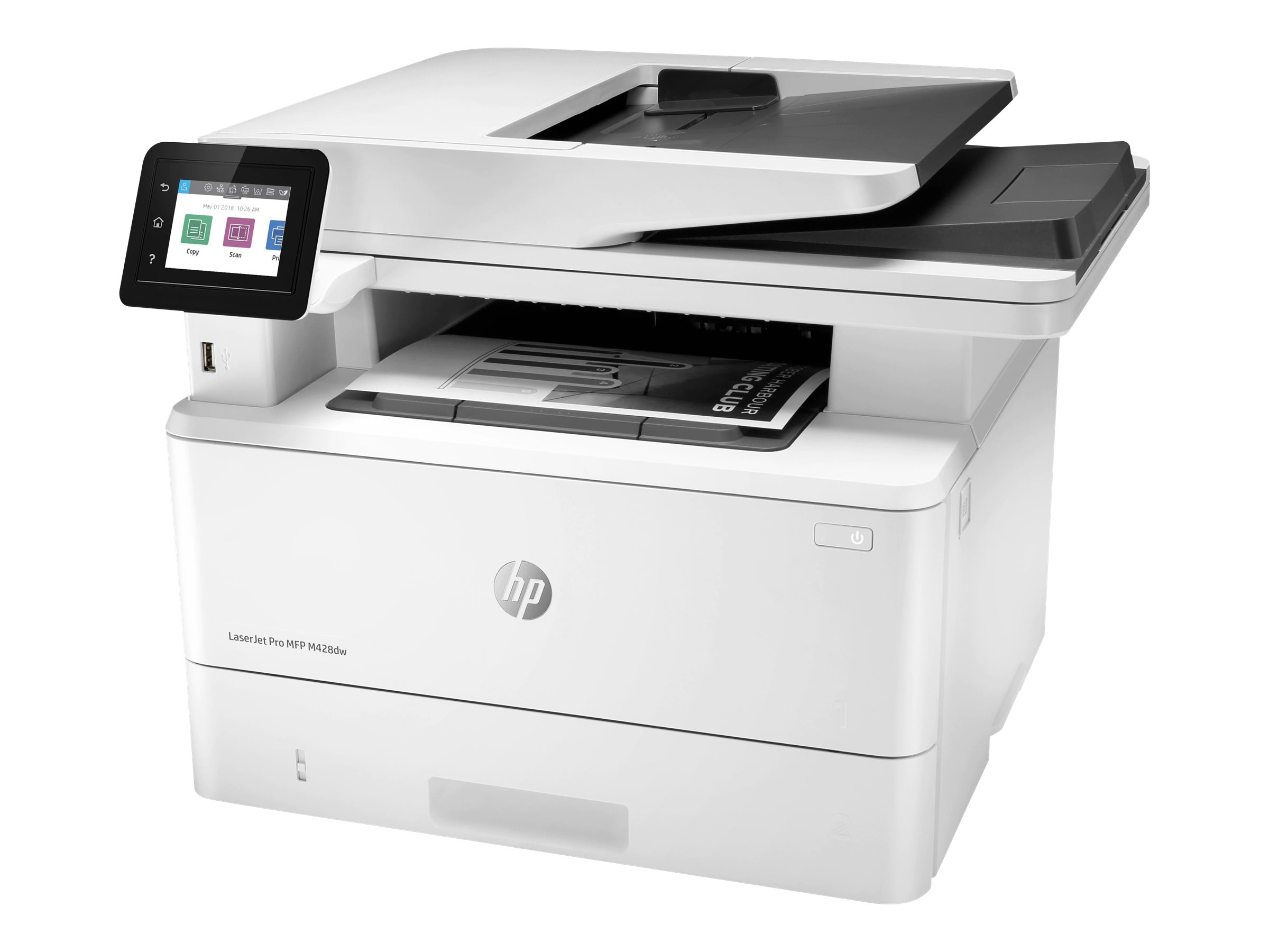 HP LaserJet Pro MFP M428dw - Multifunktionsdrucker - s/w - Laser - Legal (216 x 356 mm) (Original) - A4/Legal (Medien)