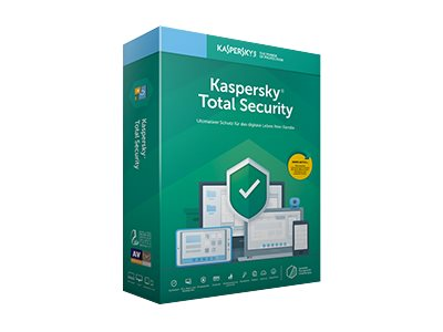 Kaspersky Total Security 2020 - Box-Pack (Upgrade) (1 Jahr) - 3 Geräte (Sierra) - Code in a Box - Win, Mac, Android, iOS - Deuts