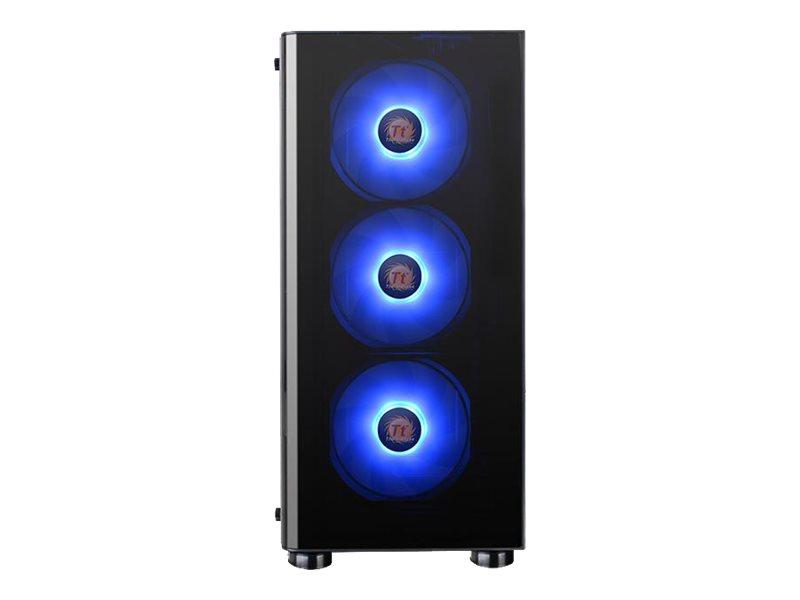 Thermaltake V Series V200 TG RGB - Tempered Glass RGB Edition - Tower - ATX - ohne Netzteil (PS/2) - Schwarz