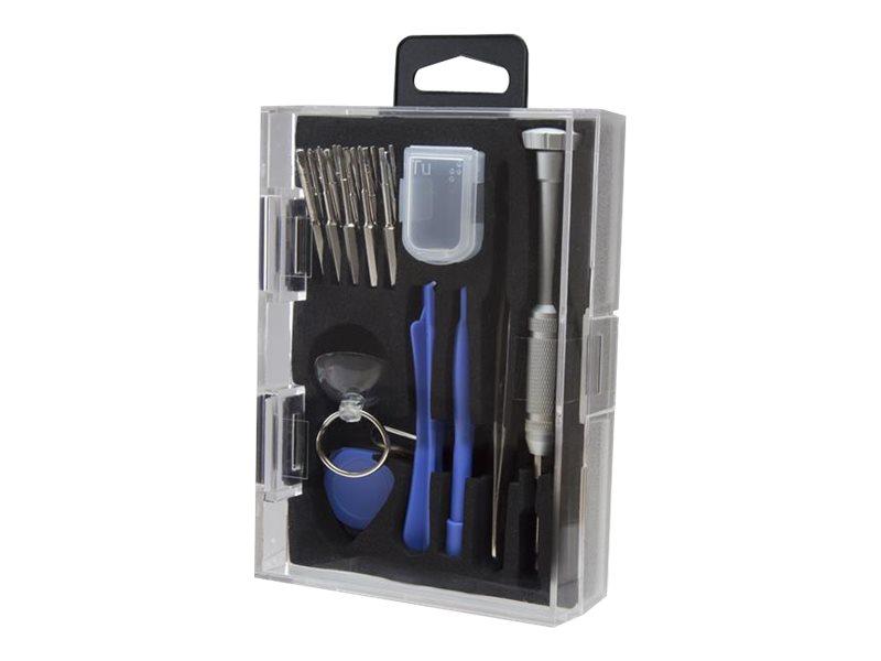 StarTech.com Handy Werkzeugset für iPhone, iPad, Samsung - Reparaturset für Smartphones, Tablets und Laptops - Tool Kit - Mobilt