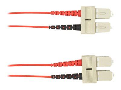 Black Box - Patch-Kabel - SC multi-mode (M) bis SC multi-mode (M) - 1 m - Glasfaser - Rot