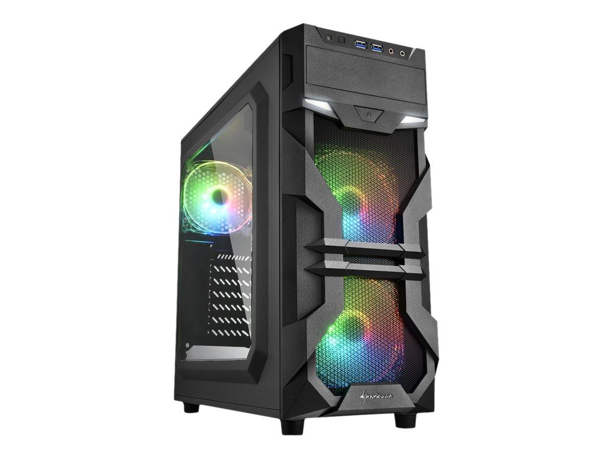 Sharkoon VG7-W RGB - Midi Tower - ATX - ohne Netzteil - USB/Audio