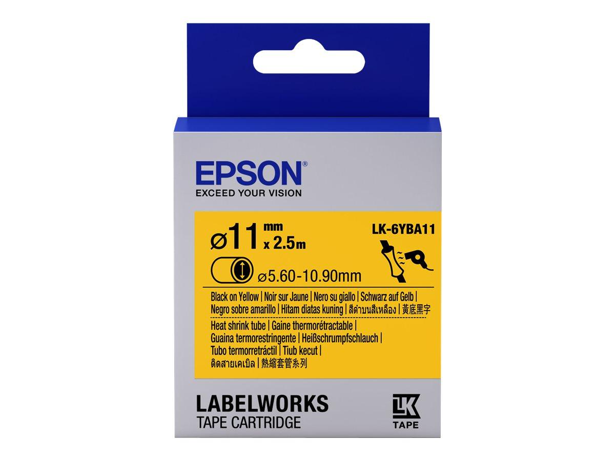 Epson LabelWorks LK-6YBA11 - Schwarz auf Gelb - Roll (1.1 cm x 2.5 m) 1 Rolle(n) Rohr - für LabelWorks LW-1000, LW-300, LW-400,