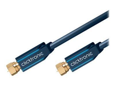ClickTronic Casual Series - HF-Kabel - F-Stecker (M) bis F-Stecker (M) - 1 m - Koax - 95 dB