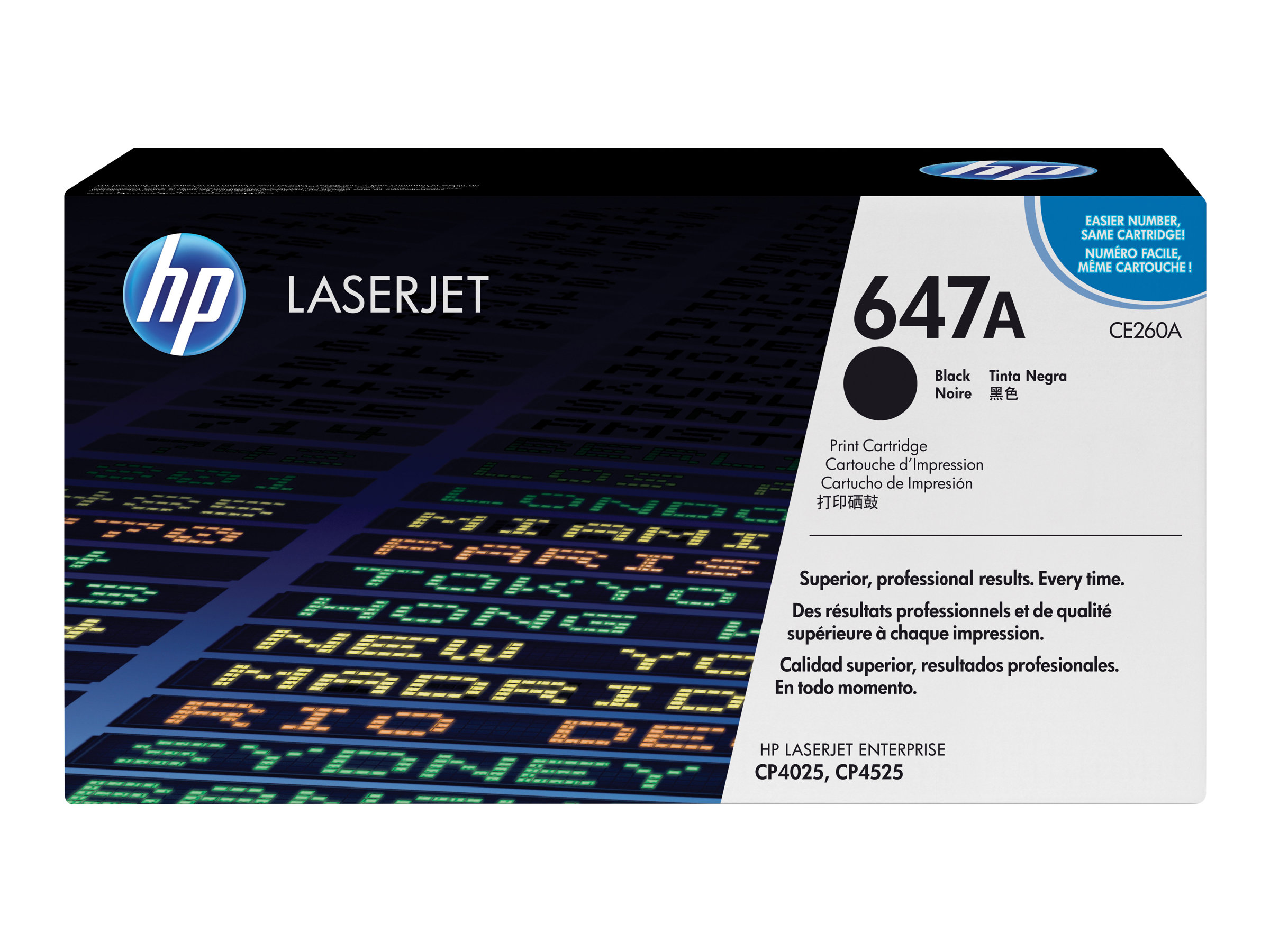 HP 647A - Schwarz - Original - LaserJet - Tonerpatrone (CE260A) - für Color LaserJet Enterprise CP4025, CP4525; LaserJet Enterpr