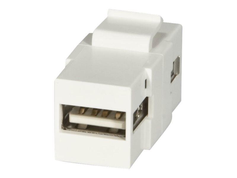 LINDY Modular AV Face Plate System Snap-in Keystone module - Modulare Eingabe - USB