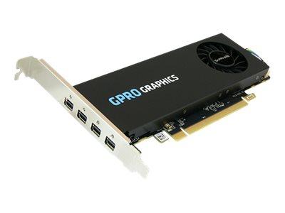 Sapphire GPRO 4300 - Grafikkarten - GPRO 4300 - 4 GB GDDR5 - PCIe 3.0 x16 Low-Profile - 4 x Mini DisplayPort
