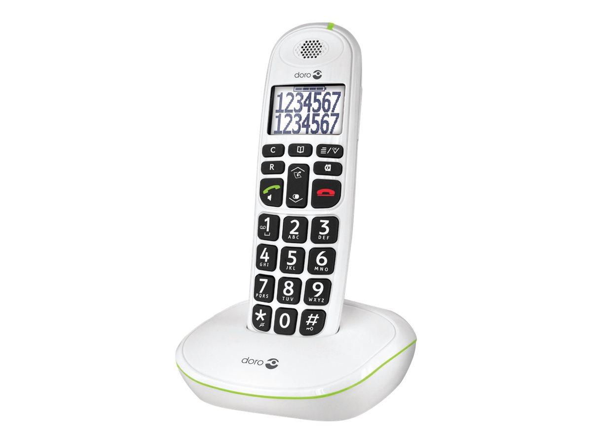 DORO PhoneEasy 110 - Schnurlostelefon mit Rufnummernanzeige/Anklopffunktion - DECT\GAP - weiss