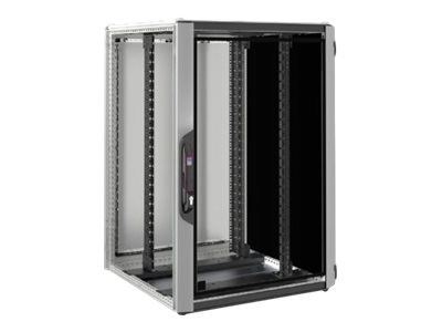 Rittal VX IT - Schrank Netzwerkschrank - Silber, RAL 7035, RAL 9005 - 24U - 48.3 cm (19