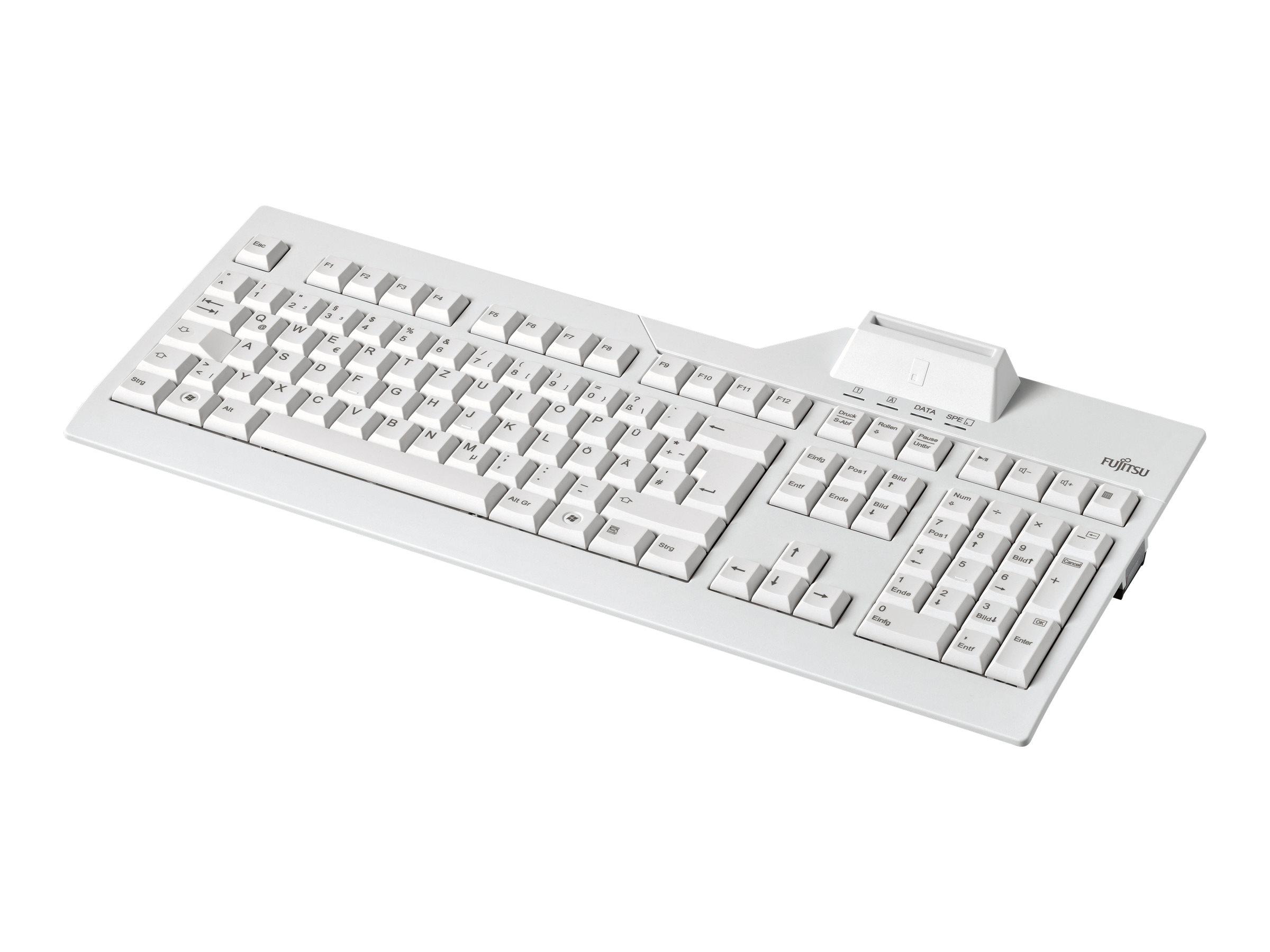 Fujitsu KB 100 SCR eSIG - Tastatur - USB - Deutsch - für Celsius C780, J550, J580, M7010, M770, R970, W580; ESPRIMO D538/E94, D9