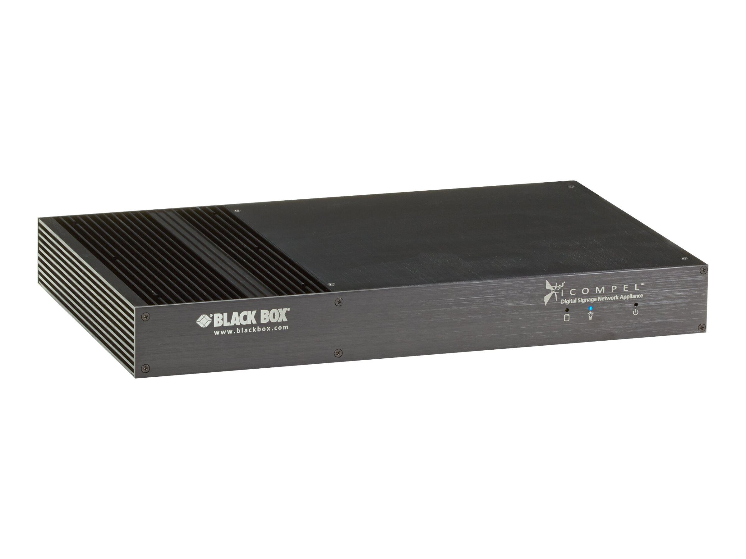 Black Box iCOMPEL Q Series VESA Subscriber - Publisher für Digital Signage - Intel Celeron - RAM 4 GB - 60 GB - Linux