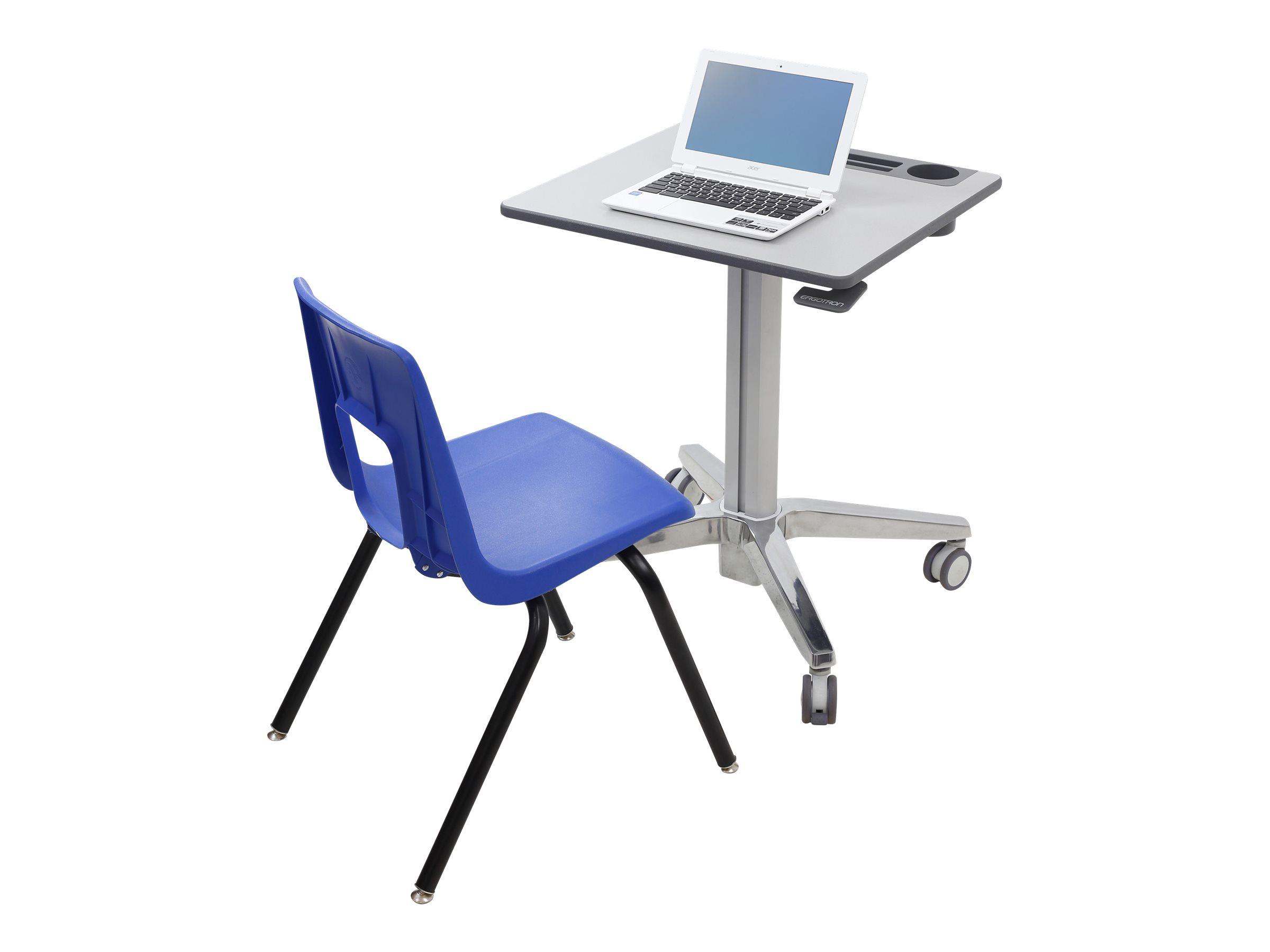 Ergotron LearnFit Sit-Stand Desk - Tisch - mobil - Schule - rechteckig - White Silver