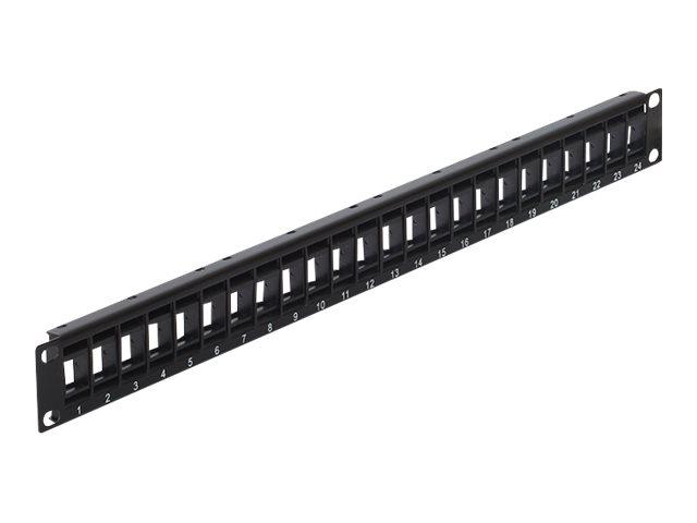 DeLOCK Keystone Patch Panel - Patch Panel - Schwarz - 1U - 48.3 cm (19