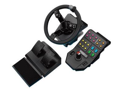 Logitech Heavy Equipment - Bundle - Lenkrad- und Pedale-Set - kabelgebunden - für PC