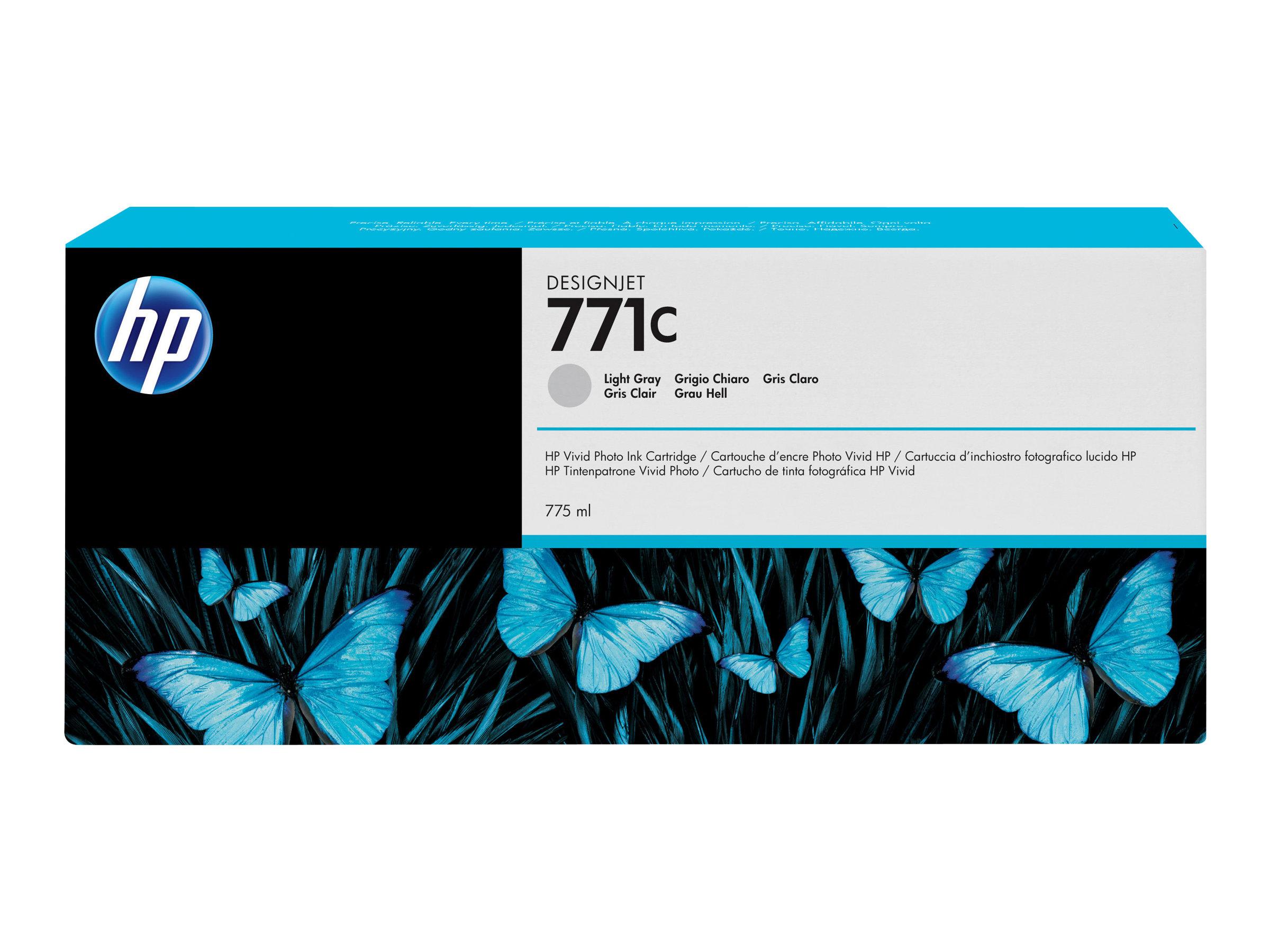 HP 771C - 775 ml - Hellgrau - Original - Tintenpatrone - für DesignJet Z6200