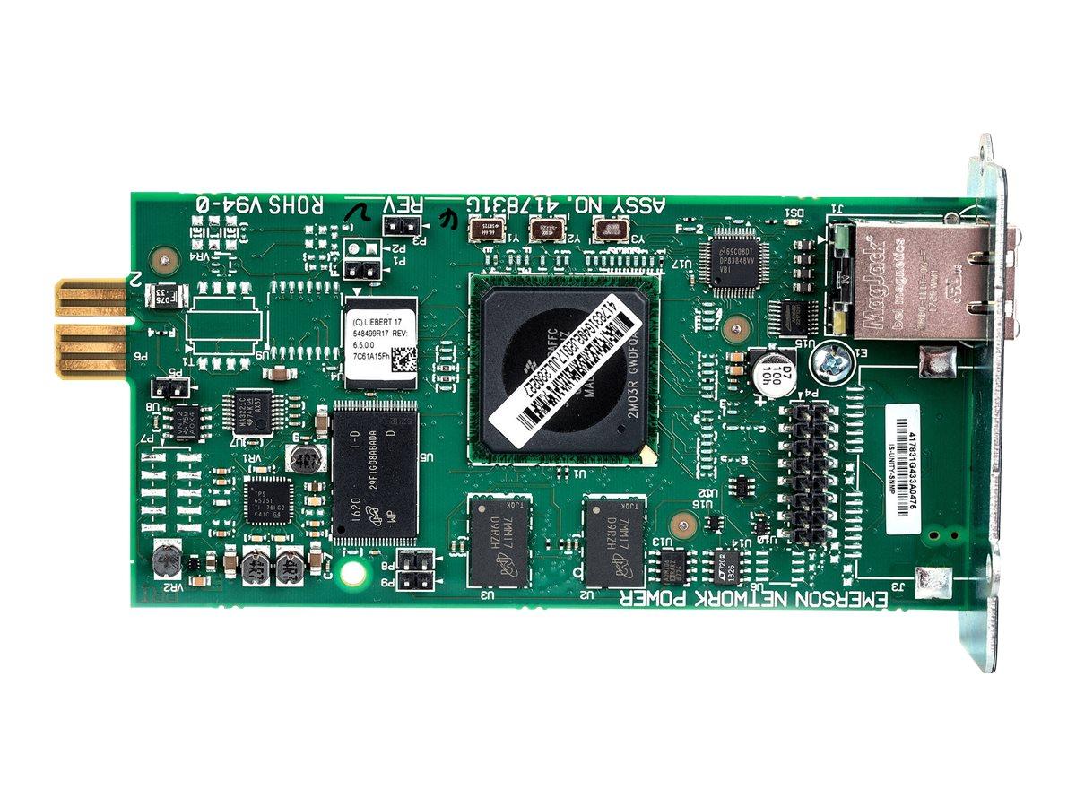 Liebert Intellislot Unity Platform Card - Fernverwaltungsadapter - Liebert IntelliSlot - 100Mb LAN - 100Base-TX - für Liebert GX