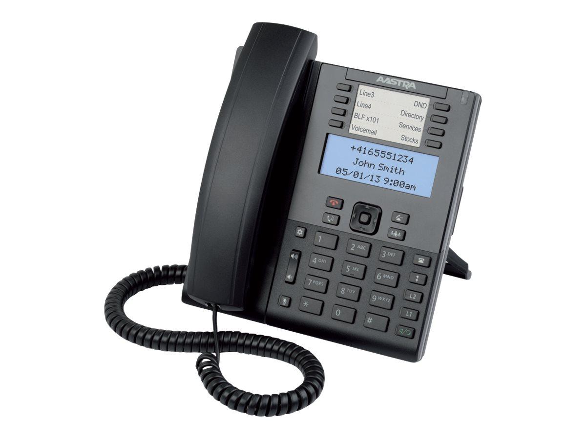 Mitel 6865 - VoIP-Telefon - dreiweg Anruffunktion - SIP, RTCP, RTP, SRTP - 9 Leitungen