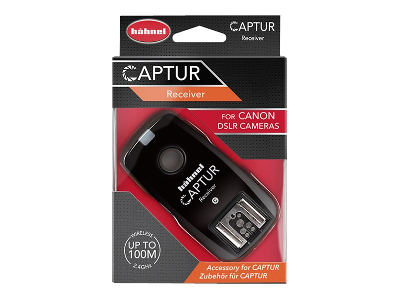 Hähnel Captur - Kabelloser Blitz-Synchronisierungsempfänger - für Canon EOS 100, 1200, 1D, 5D, 600, 650, 70; PowerShot G15, G16,