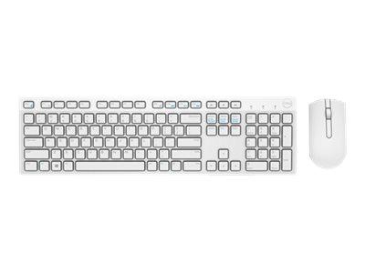 Dell KM636 - Tastatur-und-Maus-Set - kabellos - 2.4 GHz - German QWERTZ - weiss