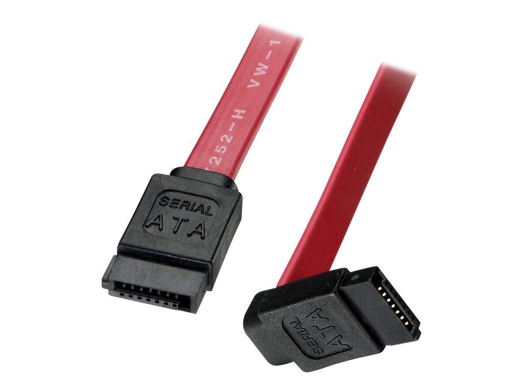 Lindy Short Right-Angled Connector - SATA-Kabel - SATA (W) bis SATA (W) - 50 cm - 90° Stecker, rechts-gewinkelter Stecker - Rot