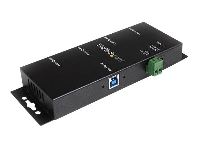 StarTech.com Montierbarer 4 Port Industrieller USB 3.0 SuperSpeed Hub inkl. Netzteil - Hub - 4 x SuperSpeed USB 3.0 - Desktop -
