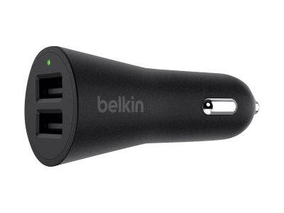 Belkin BOOST UP - Auto-Netzteil - 24 Watt - 4.8 A - 2 Ausgabeanschlussstellen (USB) - auf Kabel: Lightning