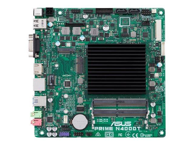 ASUS PRIME N4000T - Motherboard - Thin mini ITX - Intel Celeron N4000 - USB 3.1 Gen 1 - Gigabit LAN