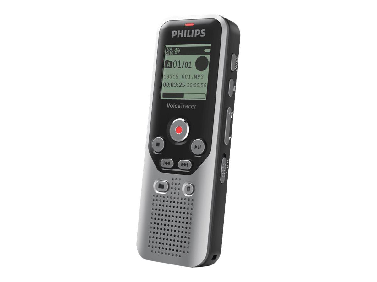 Philips Voice Tracer DVT1250 - Voicerecorder - 8 GB - Schwarz, Dark Silver