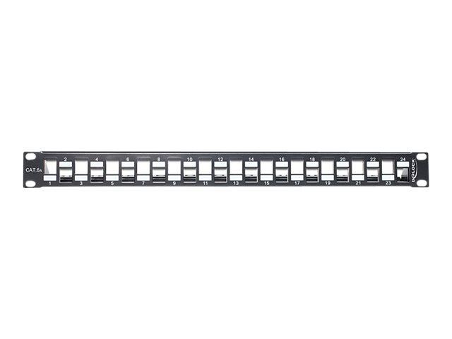 DeLOCK - Patch Panel - Schwarz - 1U - 48.3 cm (19