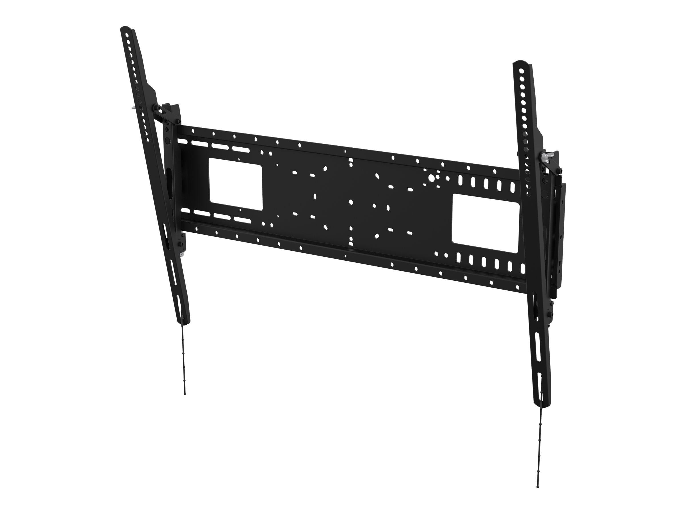 Vision VFM-W8X6T - Heavy Duty - Wandhalterung für Media Player / LCD-Display (neigen) - kaltgewalzter Stahl - Schwarz - Bildschi