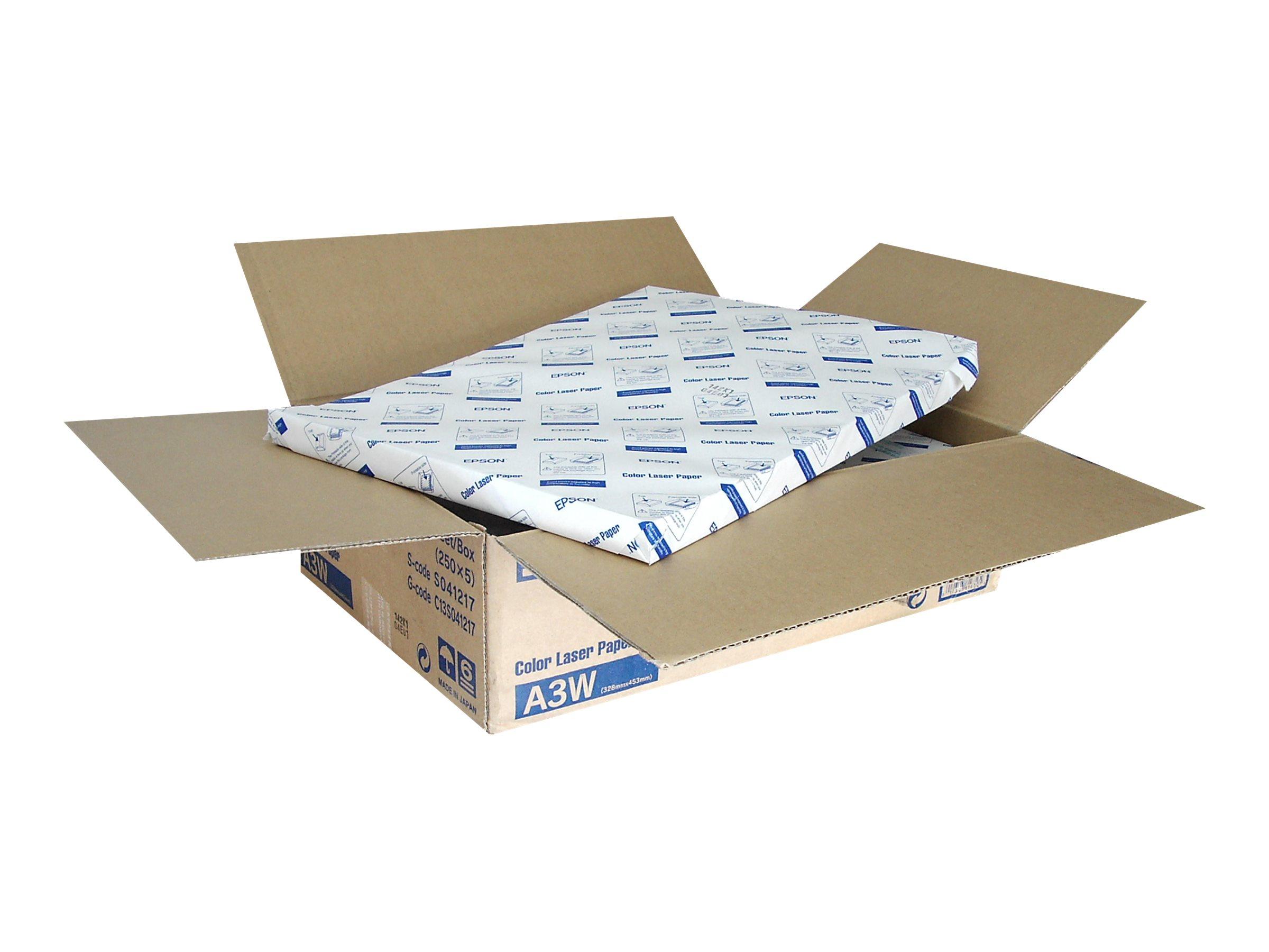 Epson - A3 plus (329 x 423 mm) - 82 g/m² - 250 Blatt Normalpapier (Packung mit 5) - für AcuLaser C1100, C3800, C8500, C8600, Col
