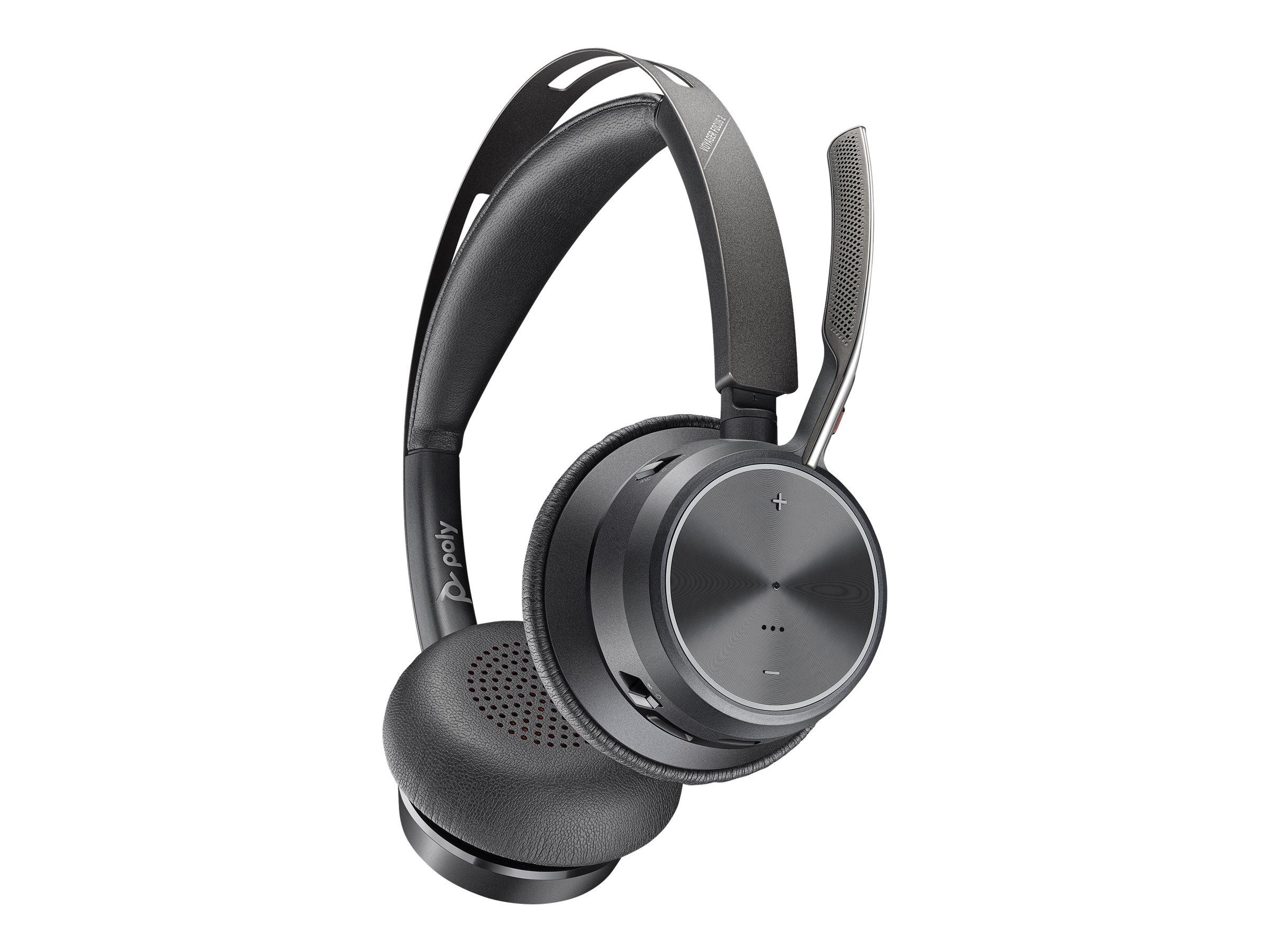 Poly Voyager Focus 2 UC - Headset - On-Ear - Bluetooth - kabellos, kabelgebunden - aktive Rauschunterdrückung
