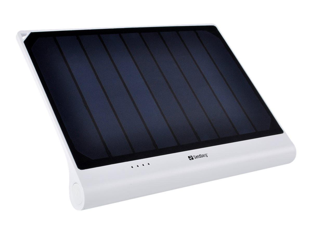 Sandberg Solar PowerBank XL - Solar-Powerbank - Li-Ion - 5000 mAh - 2.1 A (USB) - auf Kabel: Micro-USB