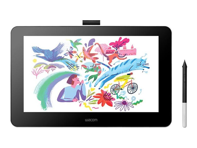 Wacom One DTC133 - Digitalisierer mit LCD Anzeige - 29.4 x 16.6 cm - kabelgebunden - USB, HDMI - Flint White