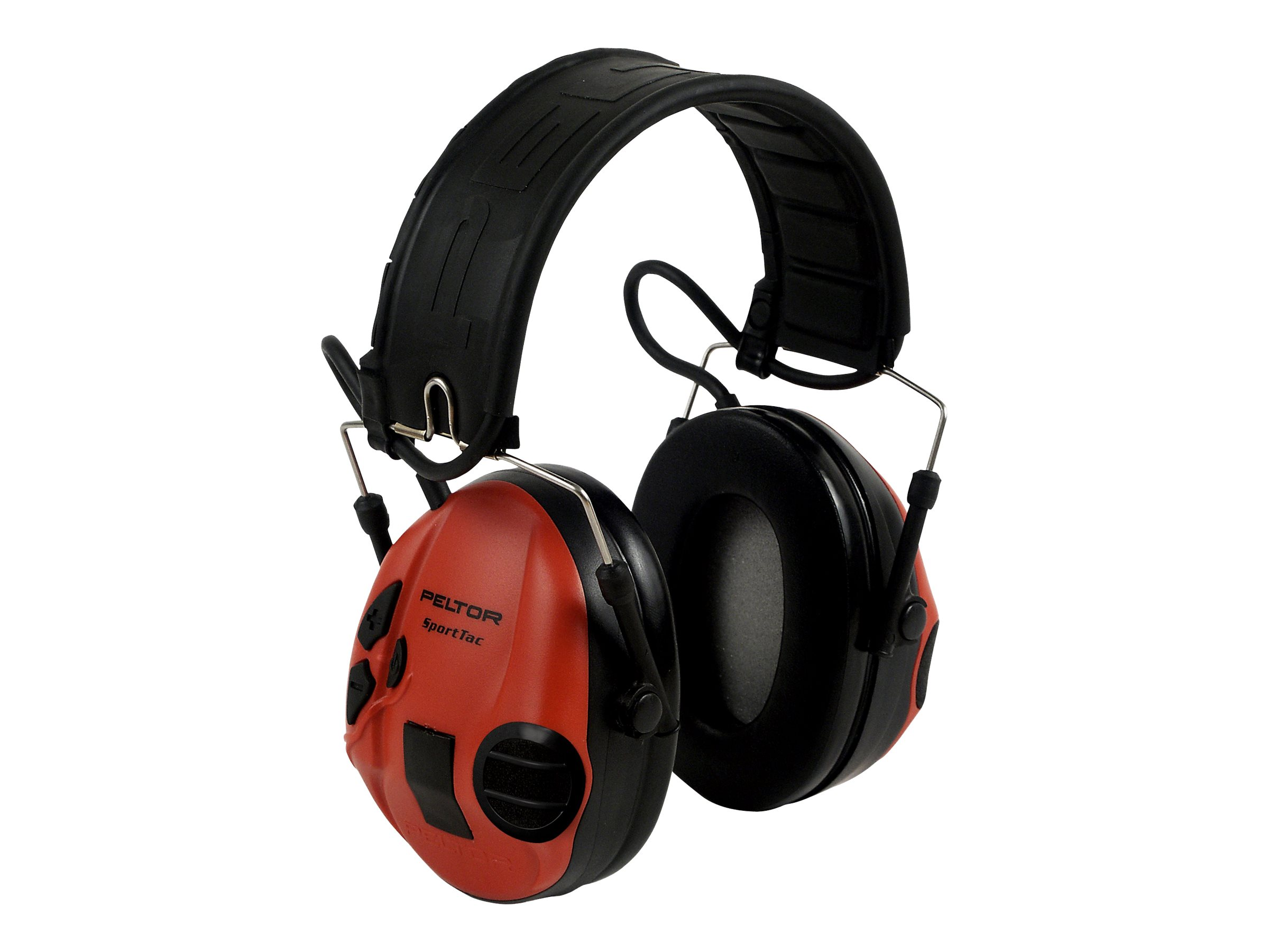 3M Peltor SportTac MT16H210F-478-RD - Kopfhörer - Full-Size - kabelgebunden - Schwarz, Rot