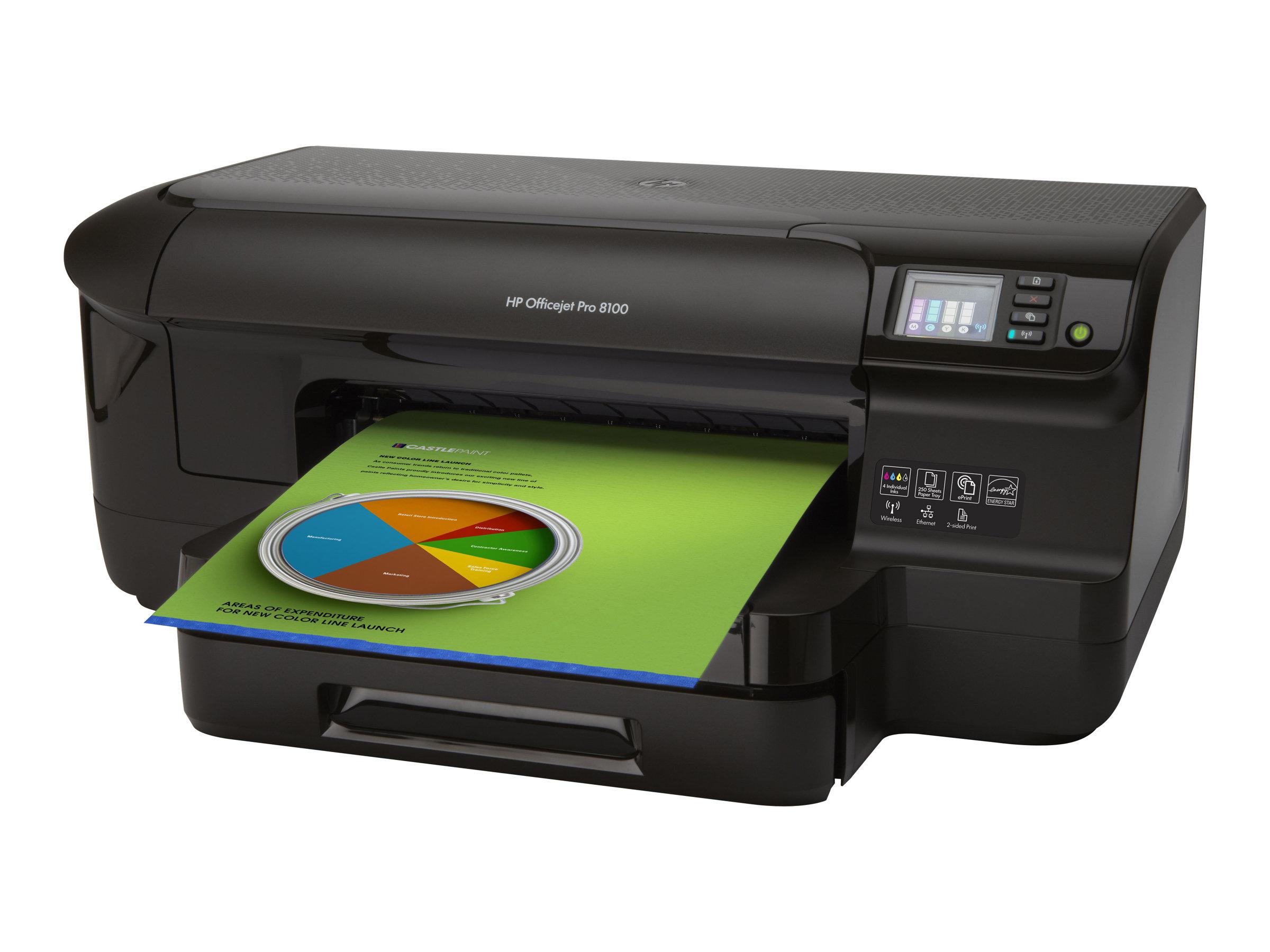 HP Officejet Pro 8100 ePrinter N811a - Drucker - Farbe - Duplex - Tintenstrahl - A4/Legal