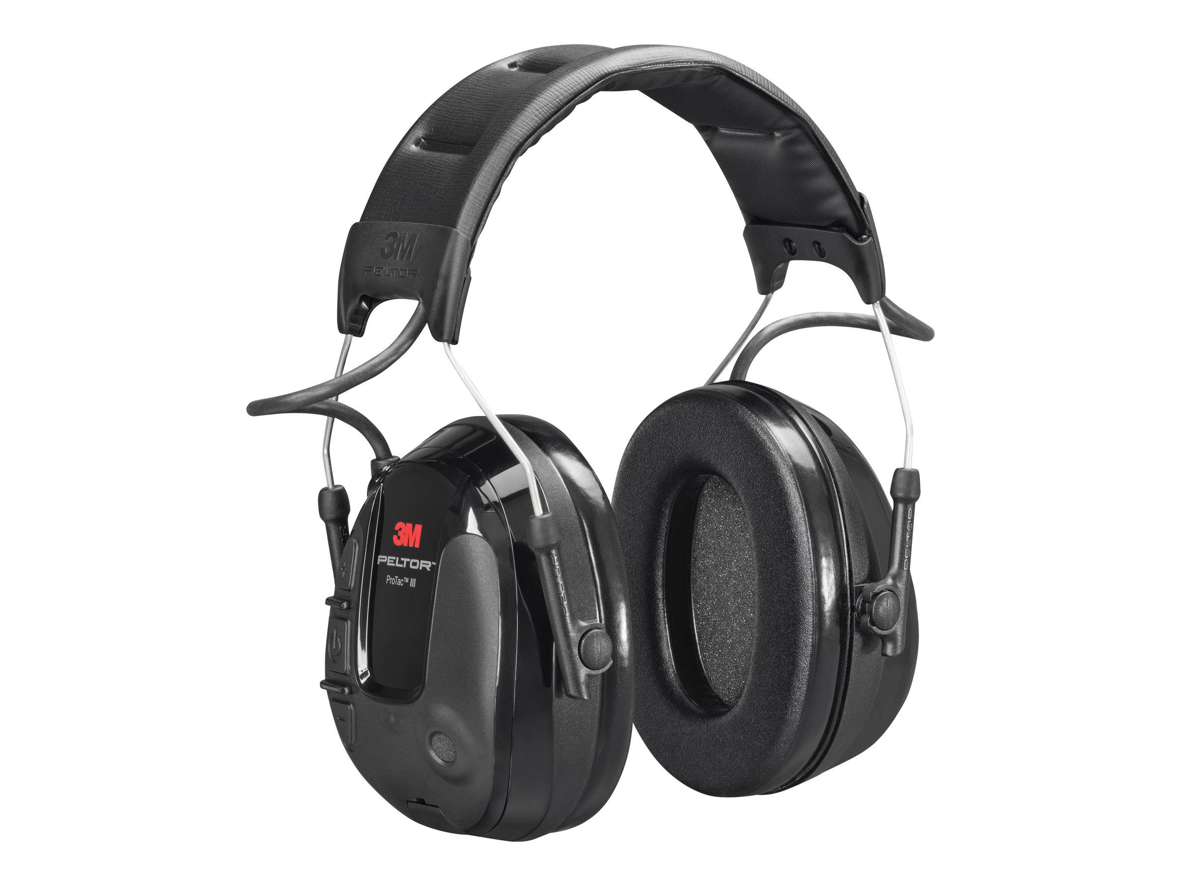 3M Peltor ProTac III Slim MT13H220A - Kopfhörer - Stirnband - vertikal - kabelgebunden - aktive Rauschunterdrückung