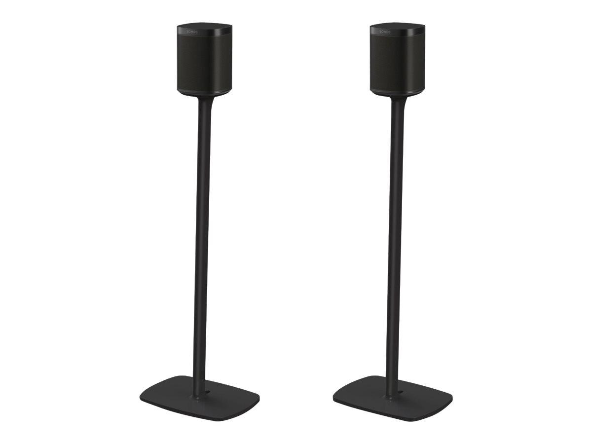 Flexson S1-FSX2 - Aufstellung für Lautsprecher - Schwarz - Bodenaufstellung (Packung mit 2) - für Sonos One (Schwarz)
