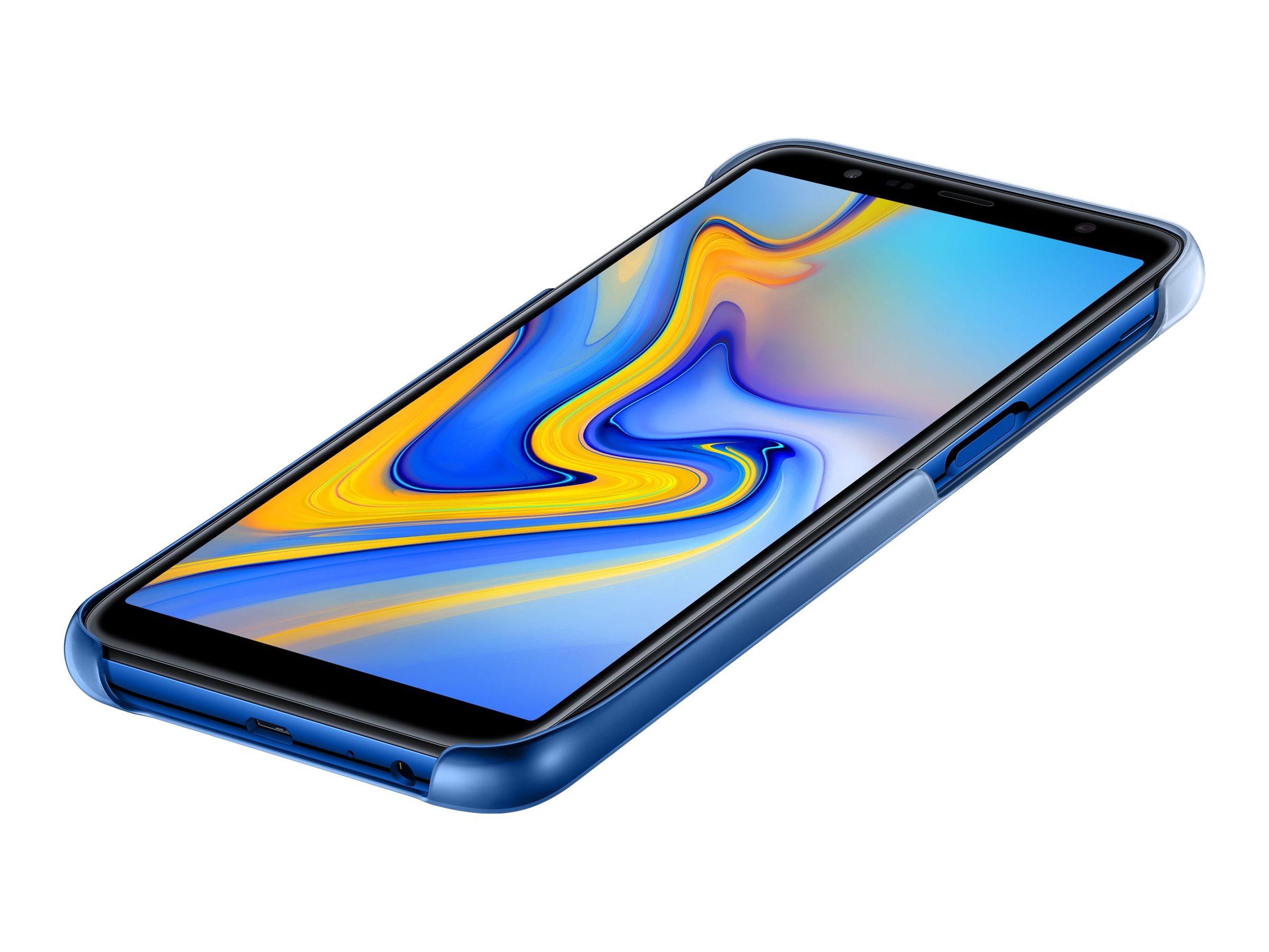 Samsung Gradation Cover EF-AJ610 - Schutzhülle hintere Abdeckung für Mobiltelefon - Blau - für Galaxy J6+