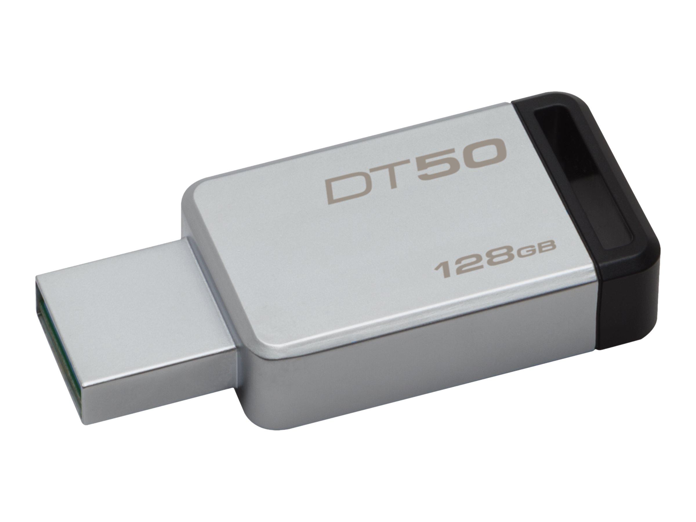 Kingston DataTraveler 50 - USB-Flash-Laufwerk - 128 GB - USB 3.1 - Schwarz
