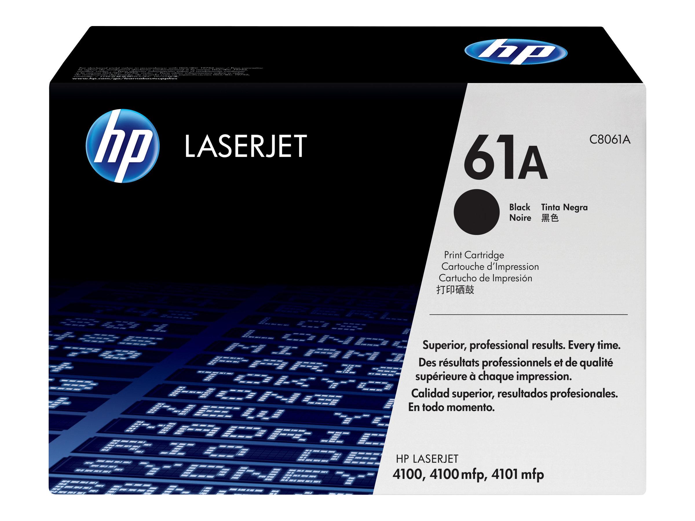HP 61A - Schwarz - Original - LaserJet - Tonerpatrone (C8061A) - für LaserJet 4100, 4101; LaserJet Enterprise Flow MFP M830
