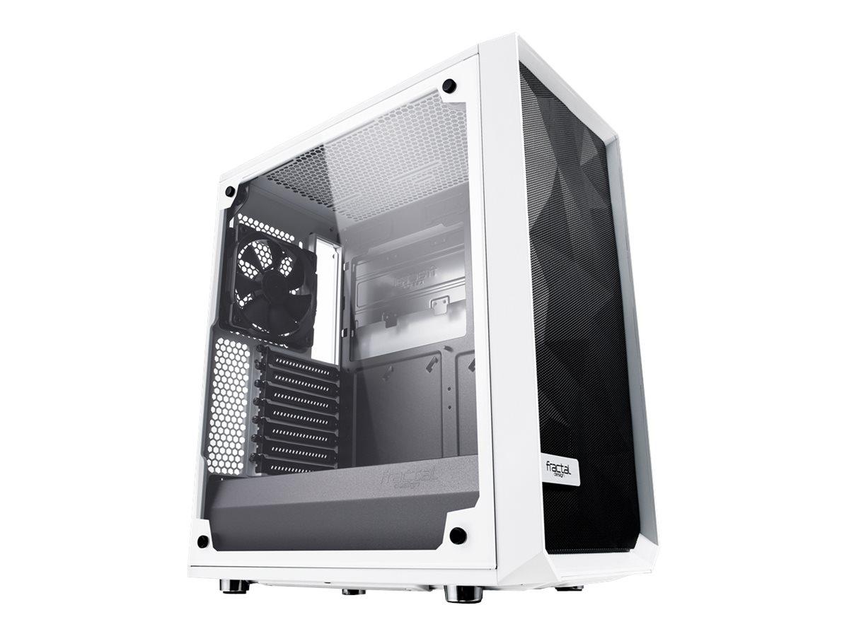 Fractal Design Meshify C White - TG - Midi Tower - ATX - ohne Netzteil (ATX) - weiss