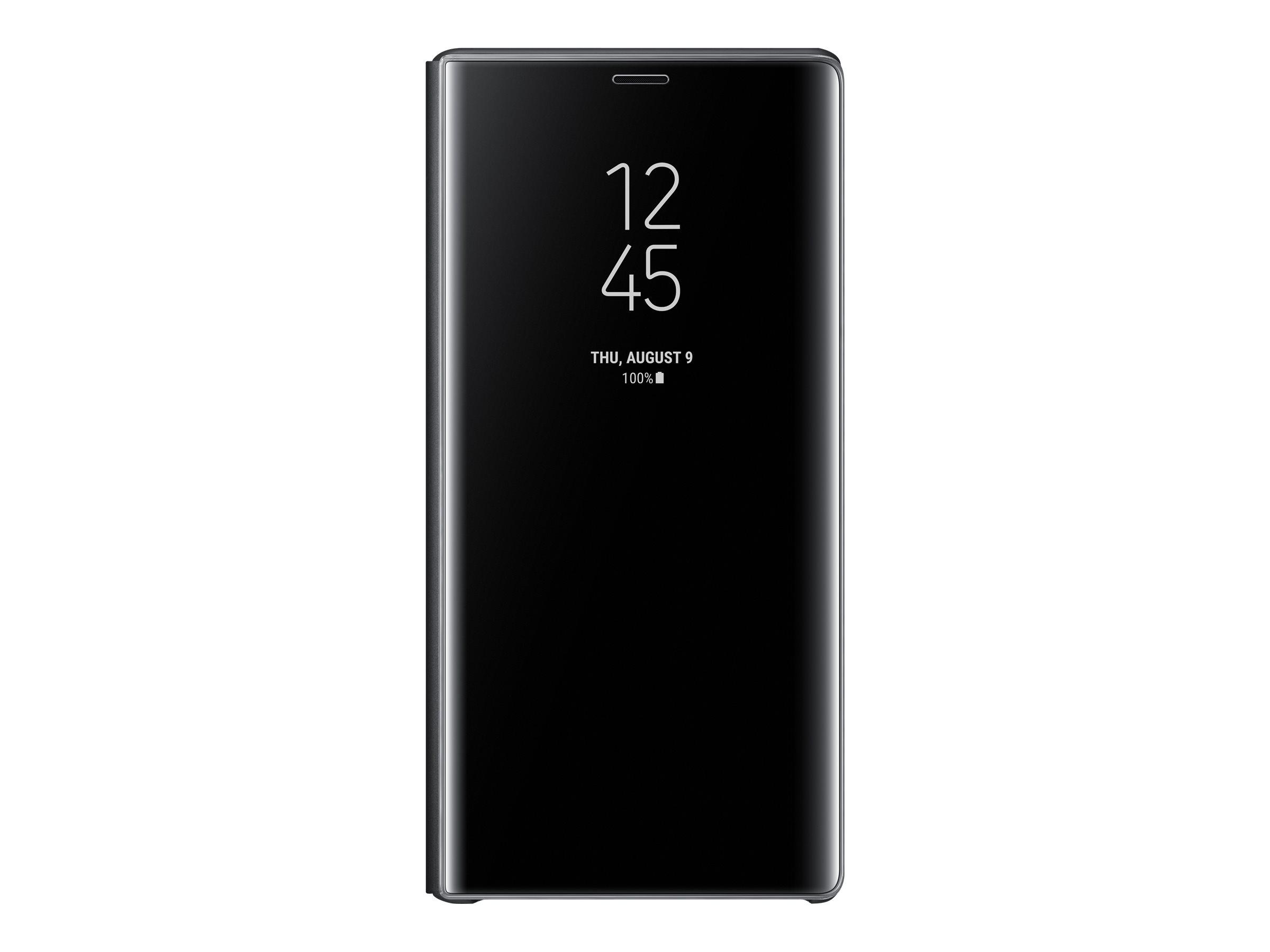 Samsung Clear View Standing Cover EF-ZN960 - Flip-Hülle für Mobiltelefon - Schwarz - für Galaxy Note9, Note9 Enterprise Edition,
