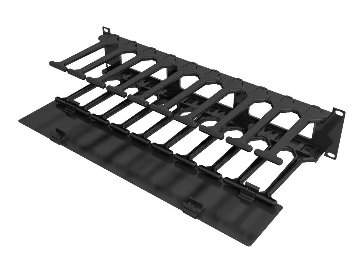 Vertiv - Rack-Kabelorganizer - Schwarz - 2U - 48.3 cm (19
