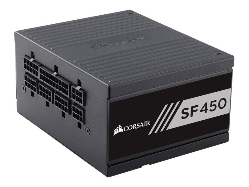CORSAIR SF Series SF450 - Stromversorgung (intern) - ATX12V 2.4/ EPS12V 2.92 / SFX12V - 80 PLUS Gold - Wechselstrom 100-240 V -