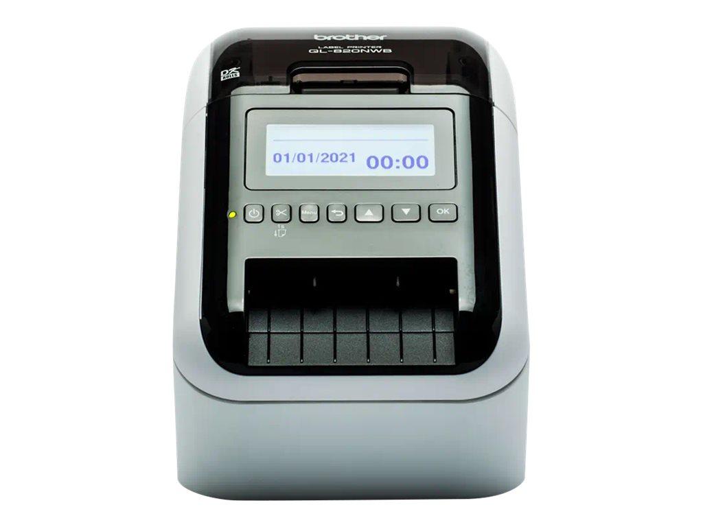 Brother QL-820NWBVM - Etikettendrucker - Thermodirekt - Rolle (6,2 cm) - 300 x 600 dpi - bis zu 110 Etiketten/Min.
